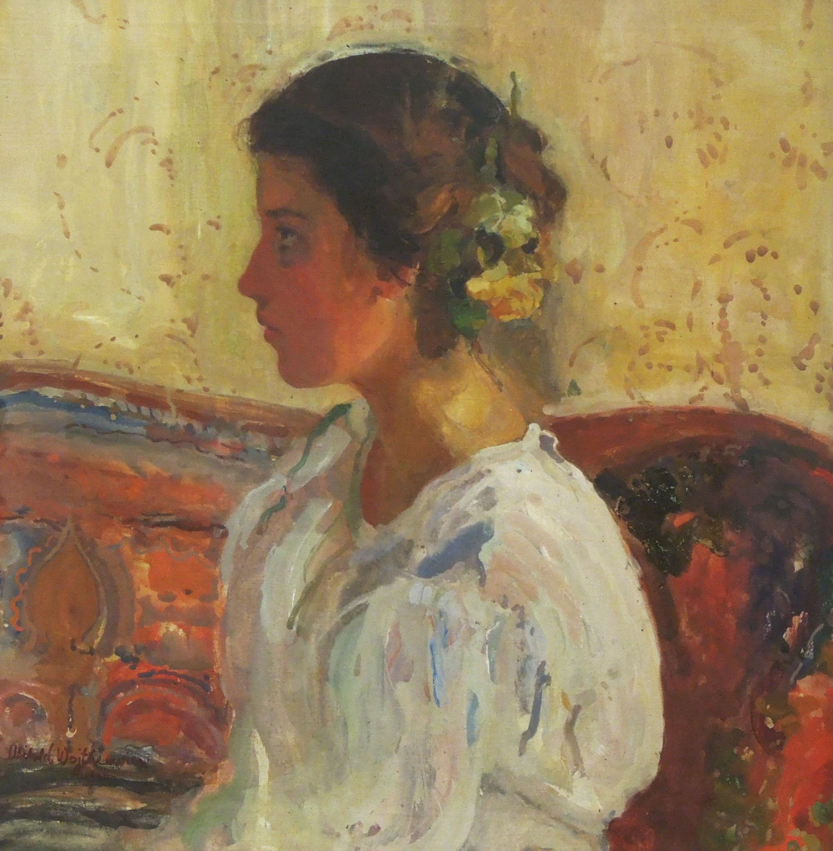 """Witold Wojtkiewcz (1879-1909) """"Portret Lizy Pareńskiej"""", 1906 rok, źródło: Muzeum Narodowe w Warszawie"""
