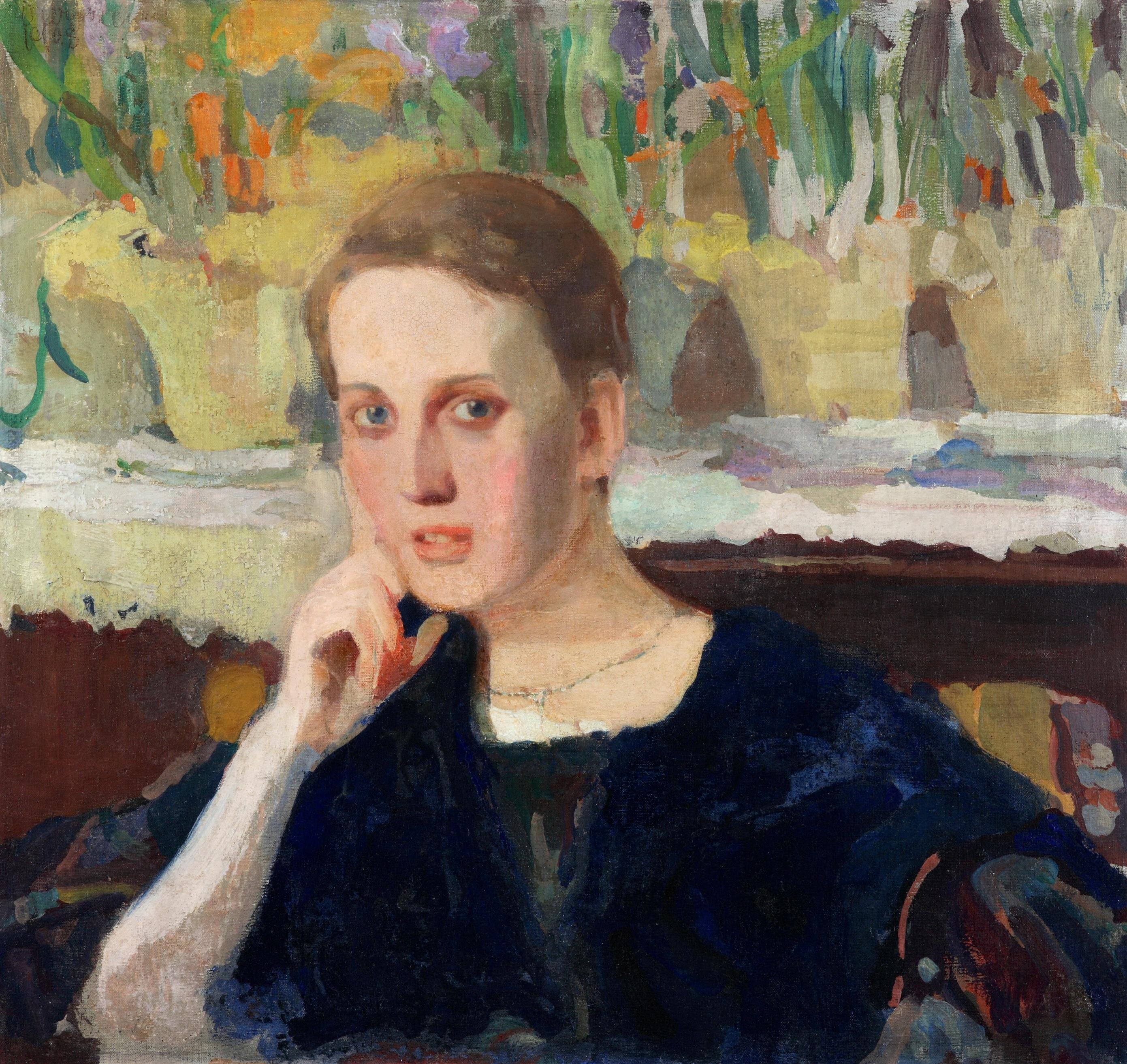 """Witold Wojtkiewcz (1879-1909) """"Portret Maryny Raczyńskiej"""", 1905 rok, źródło: Muzeum Narodowe w Kielcach"""