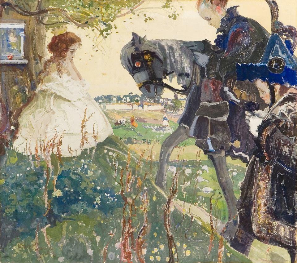 """Witold Wojtkiewcz (1879-1909) """"Hołd"""", 1908 rok, źródło: Muzeum Narodowe we Wrocławiu"""