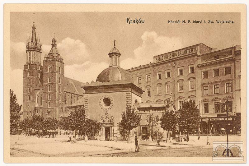 Karta pocztowa wydana przez firmę Janeczek&Ziembicki będąca jednocześnie autoreklamą firmy, 1907 rok, źródło: Muzeum Krakowa