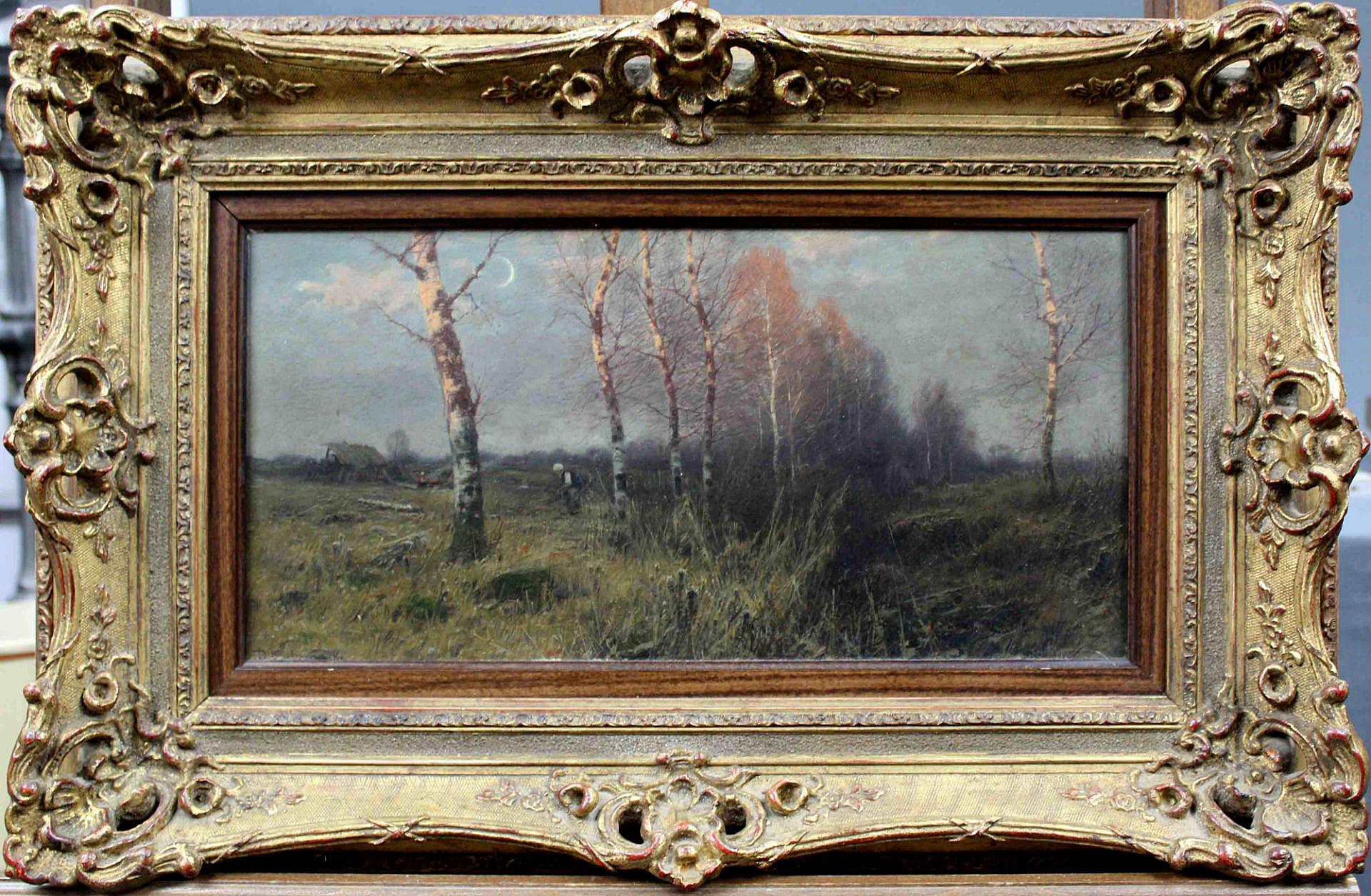 "Roman Kochanowski (1857-1945) ""Zbieranie chrustu"", źródło: Auktionshaus Oberursel"