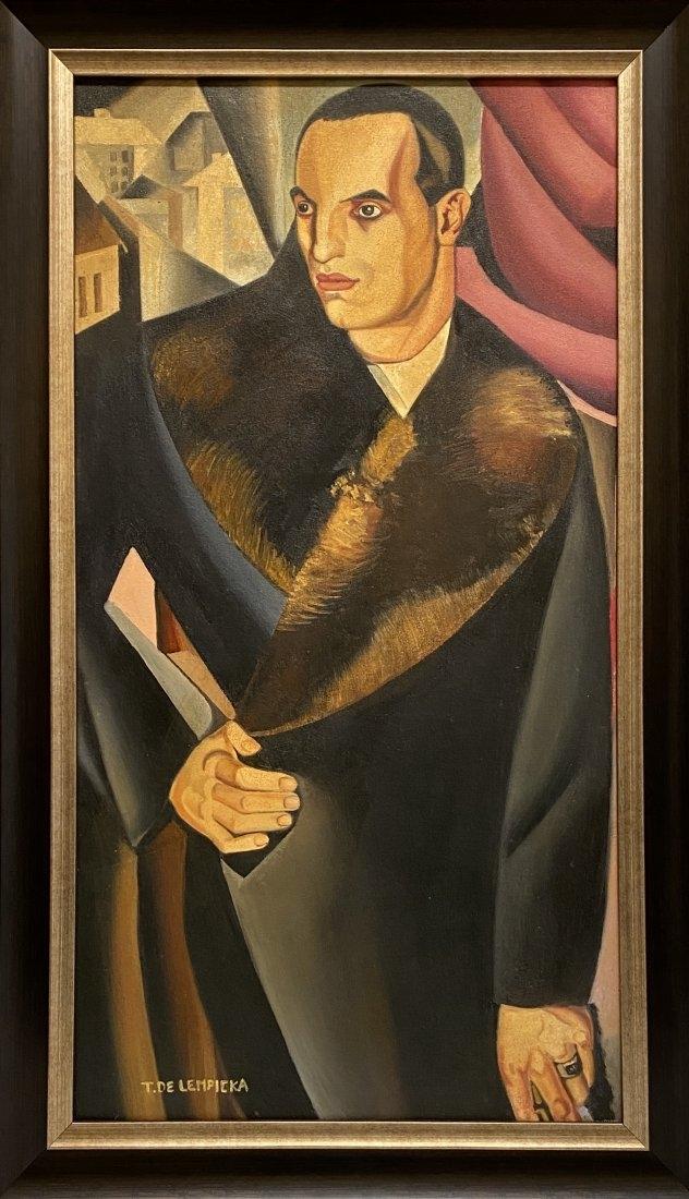"Tamara Łempicka (1898-1980) ""Portret Guido Sommi"", źródło: Rhyton Gallery New York City"