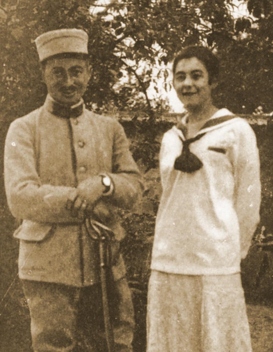 Ludwik Markus i Alicja Halicka na fotografii z 1914 roku, źródło: Sotheby's