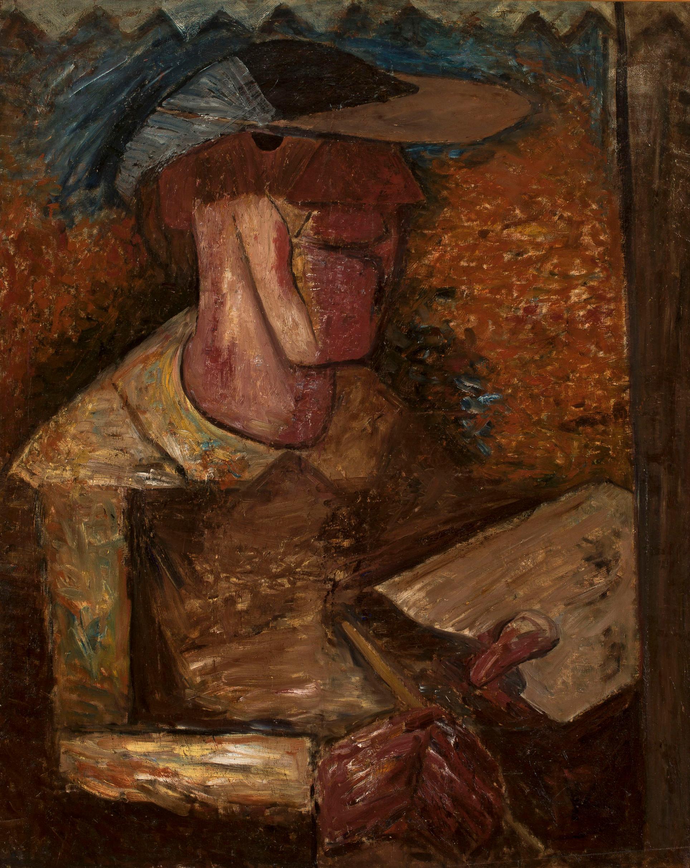 """Tadeusz Makowski (1882-1932) """"Autoportret z paletą"""", 1931 rok, źródło: Muzeum Narodowe w Warszawie"""