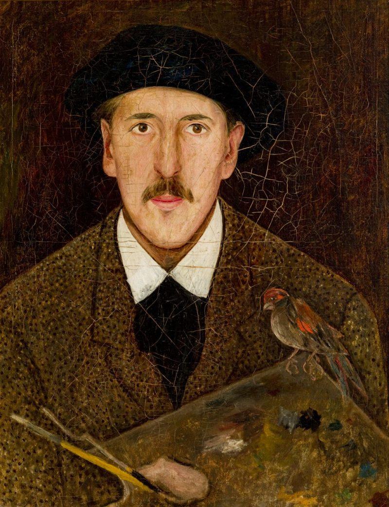 """Tadeusz Makowski (1882-1932) """"Autoportret"""", ok. 1919 roku, źródło: Muzeum Narodowe w Krakowie"""