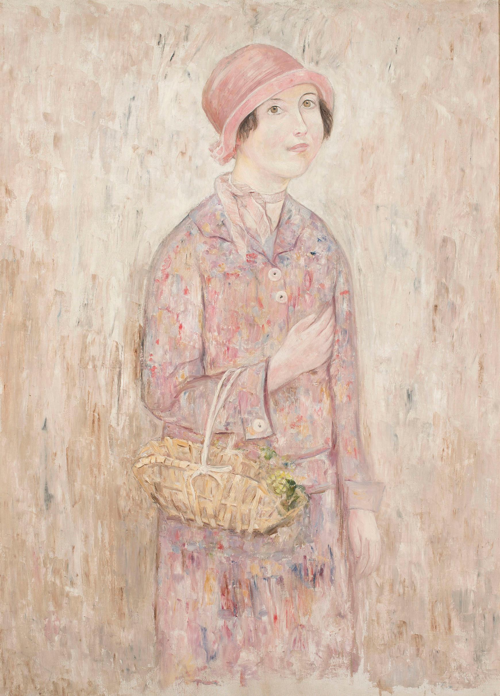 """Tadeusz Makowski (1882-1932) """"Dziewczyna w różowym kapeluszu"""", ok. 1922 roku, źródło: Muzeum Narodowe w Warszawie"""