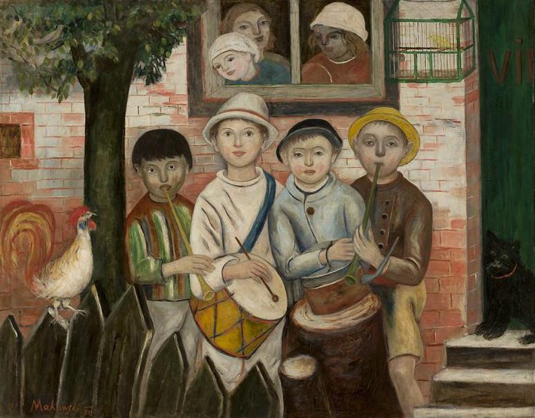 """Tadeusz Makowski (1882-1932) """"Kapela dziecięca"""", 1922 rok, źródło: Muzeum Narodowe w Warszawie"""