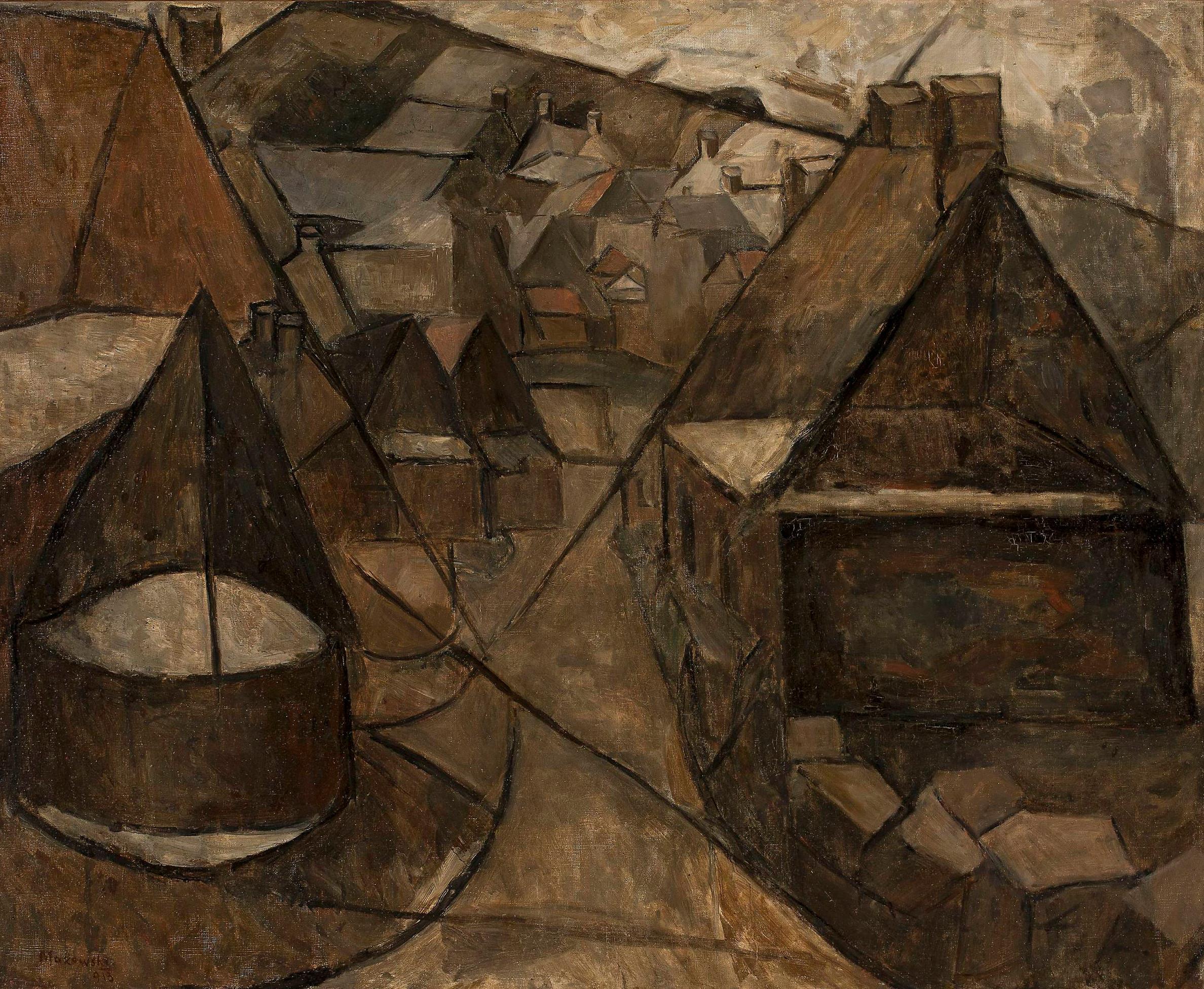 """Tadeusz Makowski (1882-1932) """"Pejzaż bretoński ze studnią"""", 1913 rok, źródło: Muzeum Narodowe w Warszawie"""