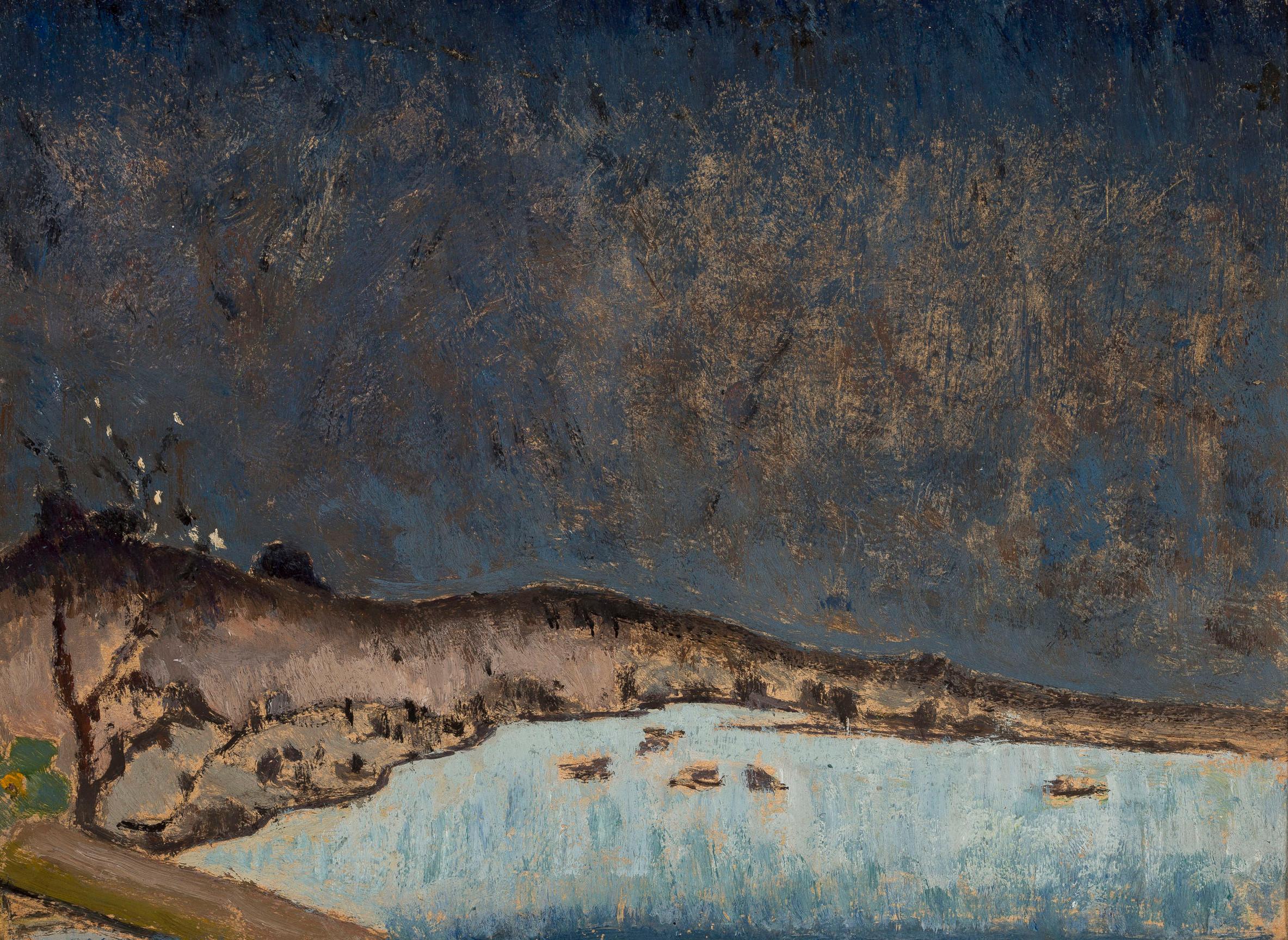 """Tadeusz Makowski (1882-1932) """"Pejzaż z chmurami"""", ok. 1908 roku, źródło: Muzeum Narodowe w Warszawie"""