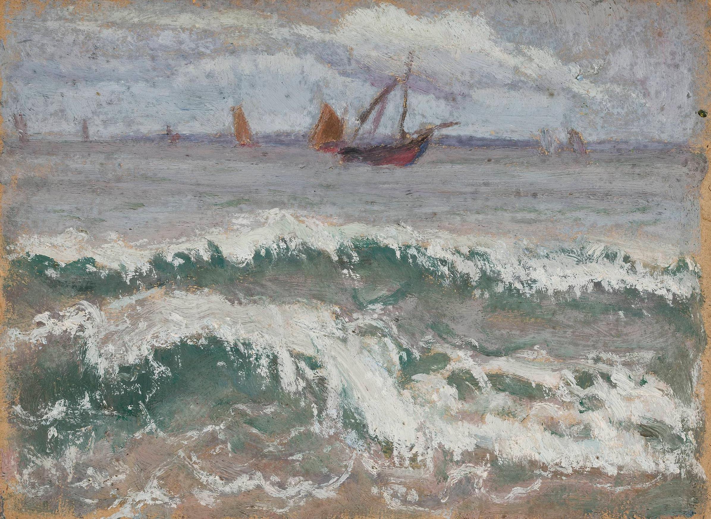 """Tadeusz Makowski (1882-1932) """"Wzburzone morze"""", ok. 1914 roku, źródło: Muzeum Narodowe w Warszawie"""