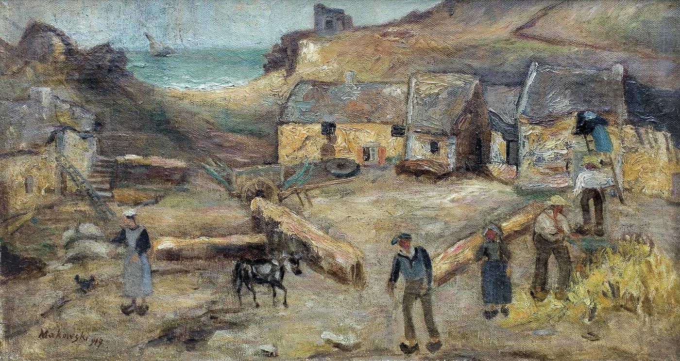 """Tadeusz Makowski (1882-1932) """"Zagroda w Bretanii"""", 1917 rok, źródło: Muzeum Narodowe w Warszawie"""