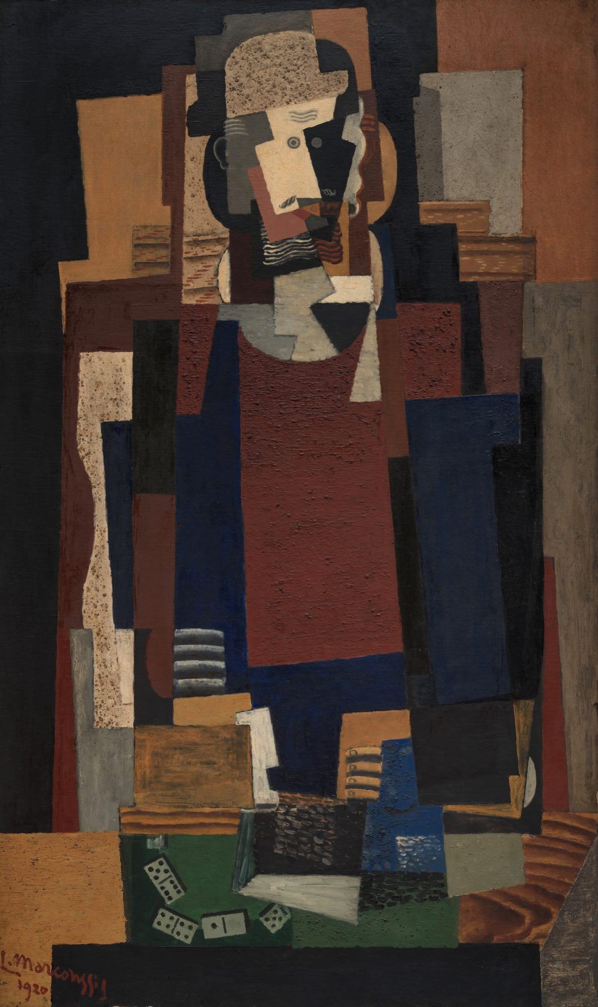 """Louis Marcoussis (1871-1941) """"Bywalec"""", 1920 rok, źródło: Peggy Guggenheim Collection"""
