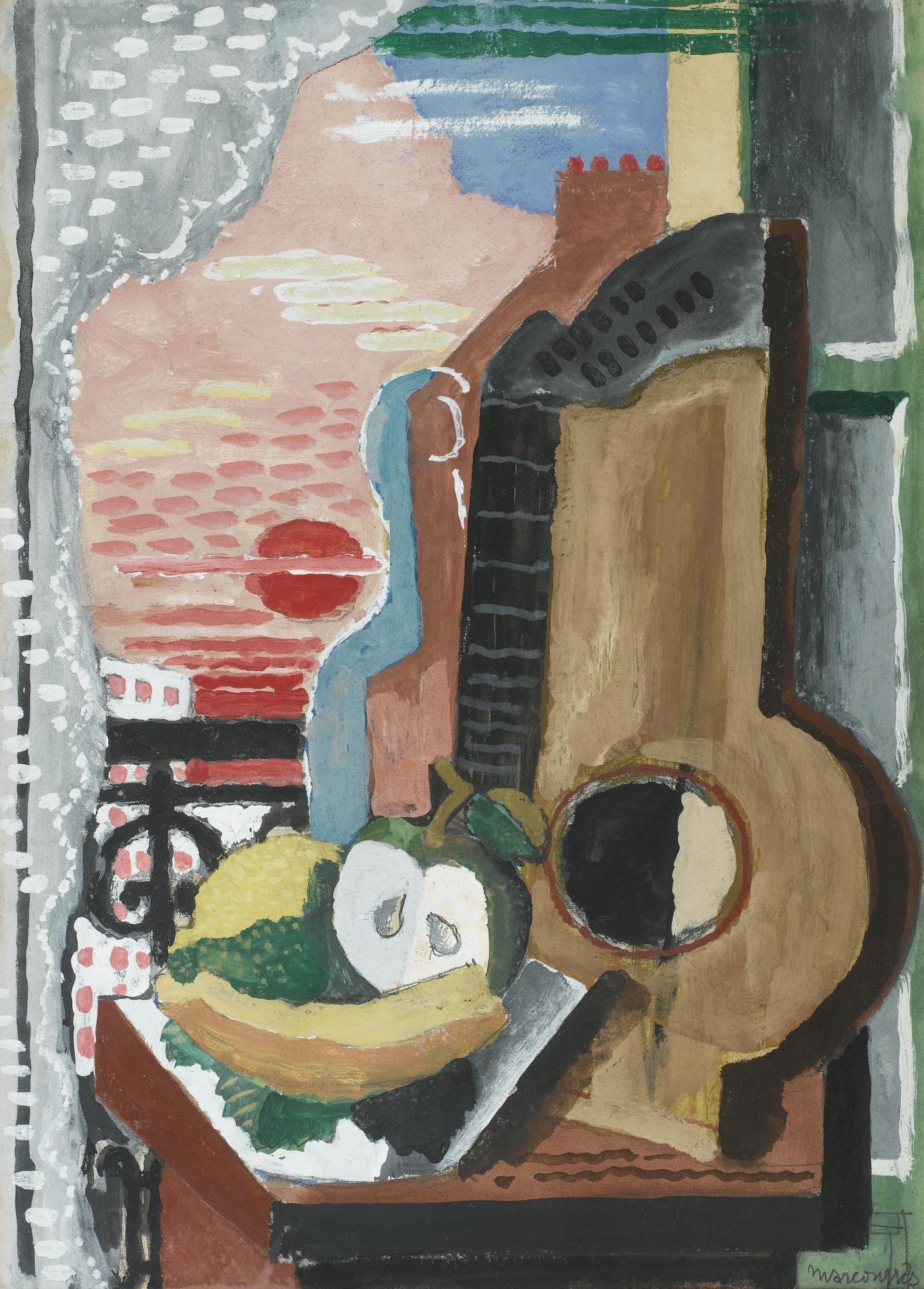 """Louis Marcoussis (1871-1941) """"Martwa natura przy oknie"""", ok. 1920 roku, źródło: Sotheby's"""