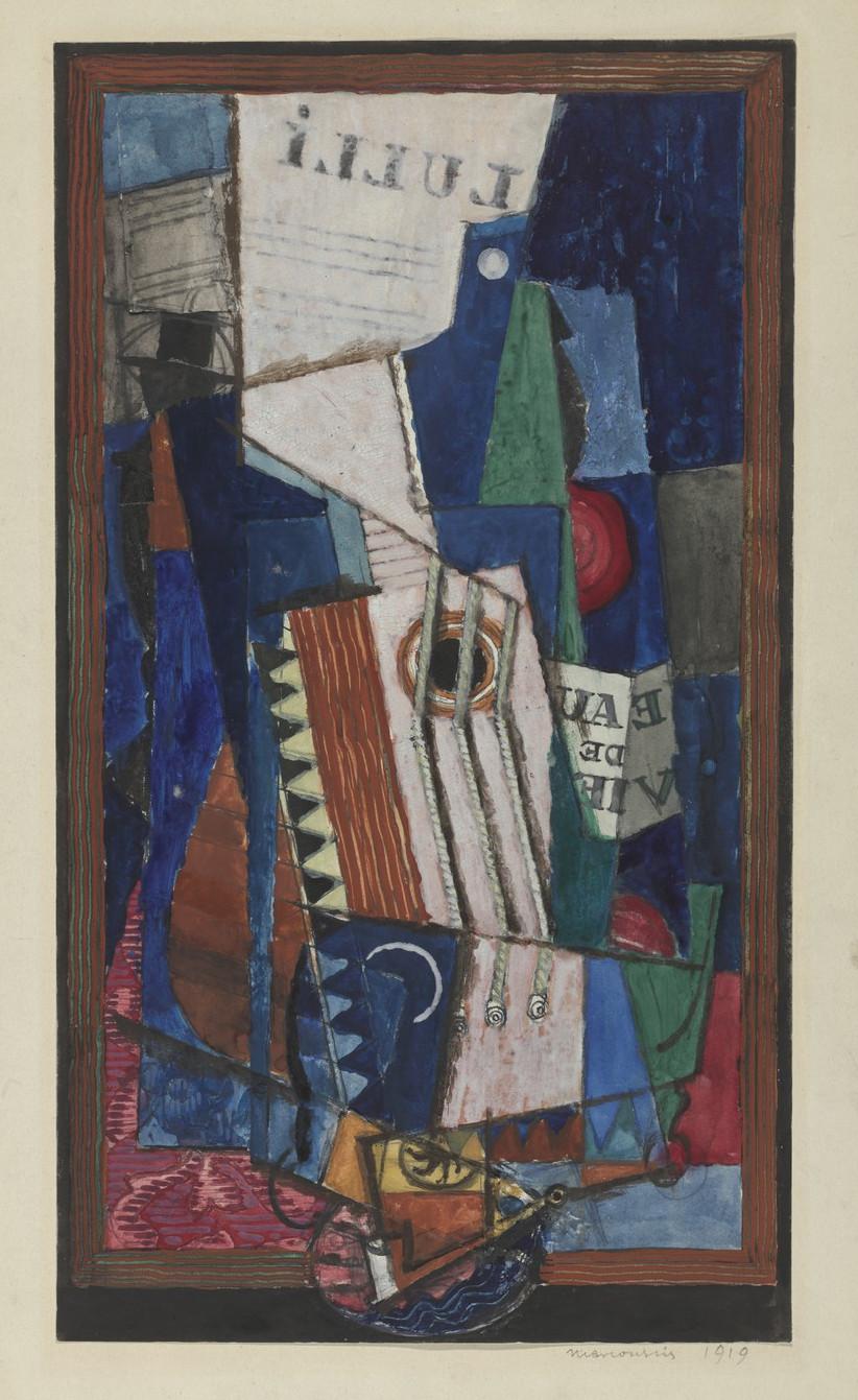 """Louis Marcoussis (1871-1941) """"Martwa natura z cytrą"""", 1919 rok, źródło: Museum of Modern Art w Nowym Jorku"""