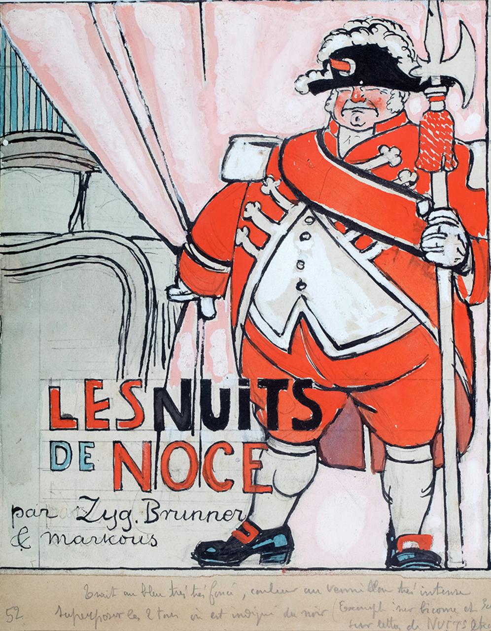 "Louis Marcoussis (1871-1941), projekt okładki ""L'Assiette au Beurre"", 1912 rok, źródło: Polswiss Art"