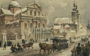 Krakowskim szlakiem: Zima w Krakowie według Juliusza Kossaka i Stanisława Tondosa