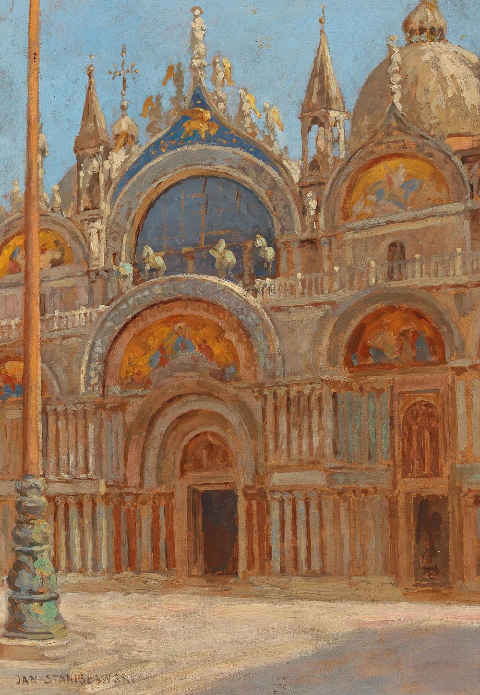 """Jan Stanisławski (1860-1907) """"Kościół San Marco w Wenecji"""", źródło: Dorotheum"""