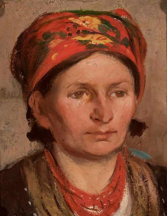 """Włodzimierz Tetmajer (1862-1923) """"Portret żony Anny Mikołajczykówny"""", ok. 1910 roku, źródło: Muzeum Narodowe w Warszawie"""