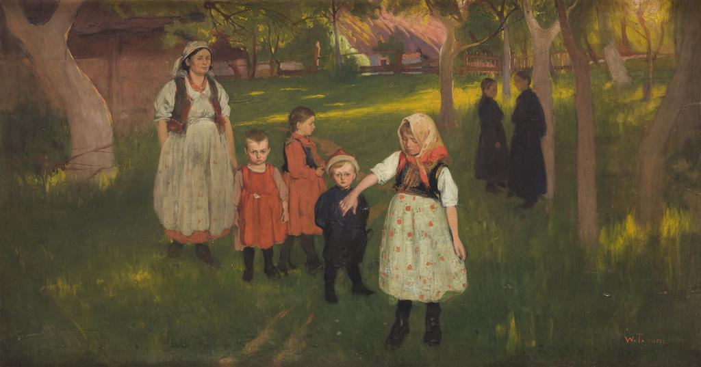 """Włodzimierz Tetmajer (1862-1923) """"Rodzina artysty"""", 1905 rok, źródło: Muzeum Narodowe w Krakowie"""