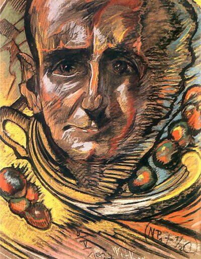 """Stanisław Ignacy Witkiewicz (1885-1939) """"Portret Marcelego Staroniewicza"""" źródło: Muzeum Pomorza Środkowego w Słupsku"""