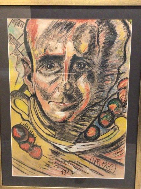 """Stanisław Ignacy Witkiewicz (1885-1939) """"Portret Marcelego Staroniewicza"""" pastel na papierze, 66 x 48 cm Hunt and Peck Auctions, źródło: Hunt and Peck Auctions"""