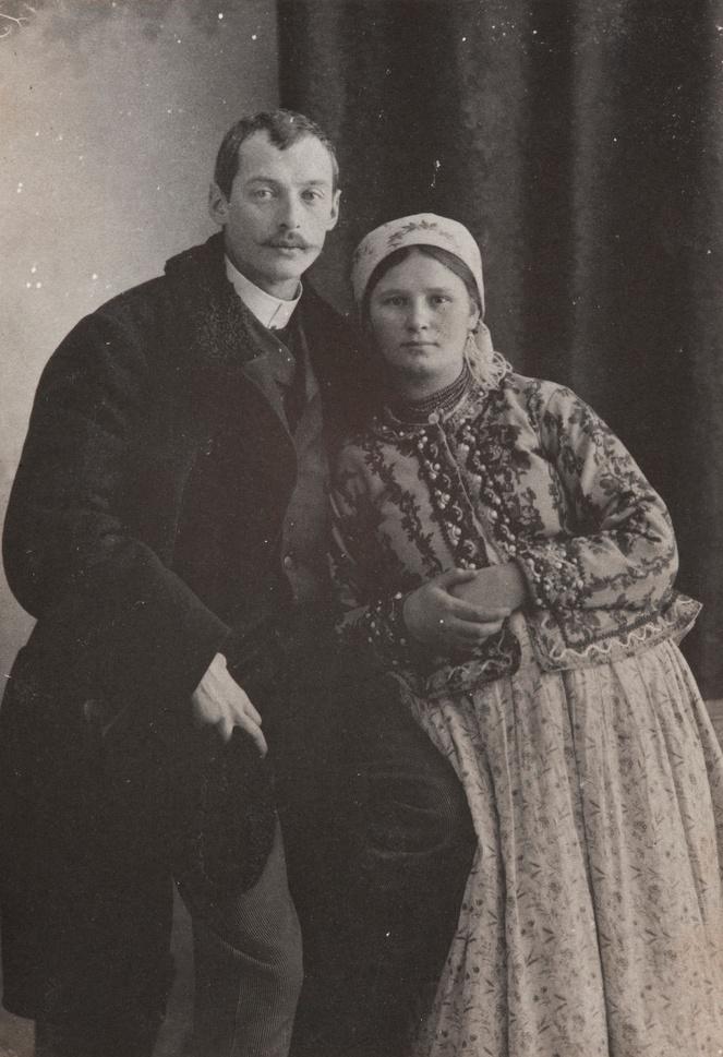 Włodzimierz Tetmajer z żoną, lata 1890-1895, źródło: Muzeum Narodowe w Krakowie