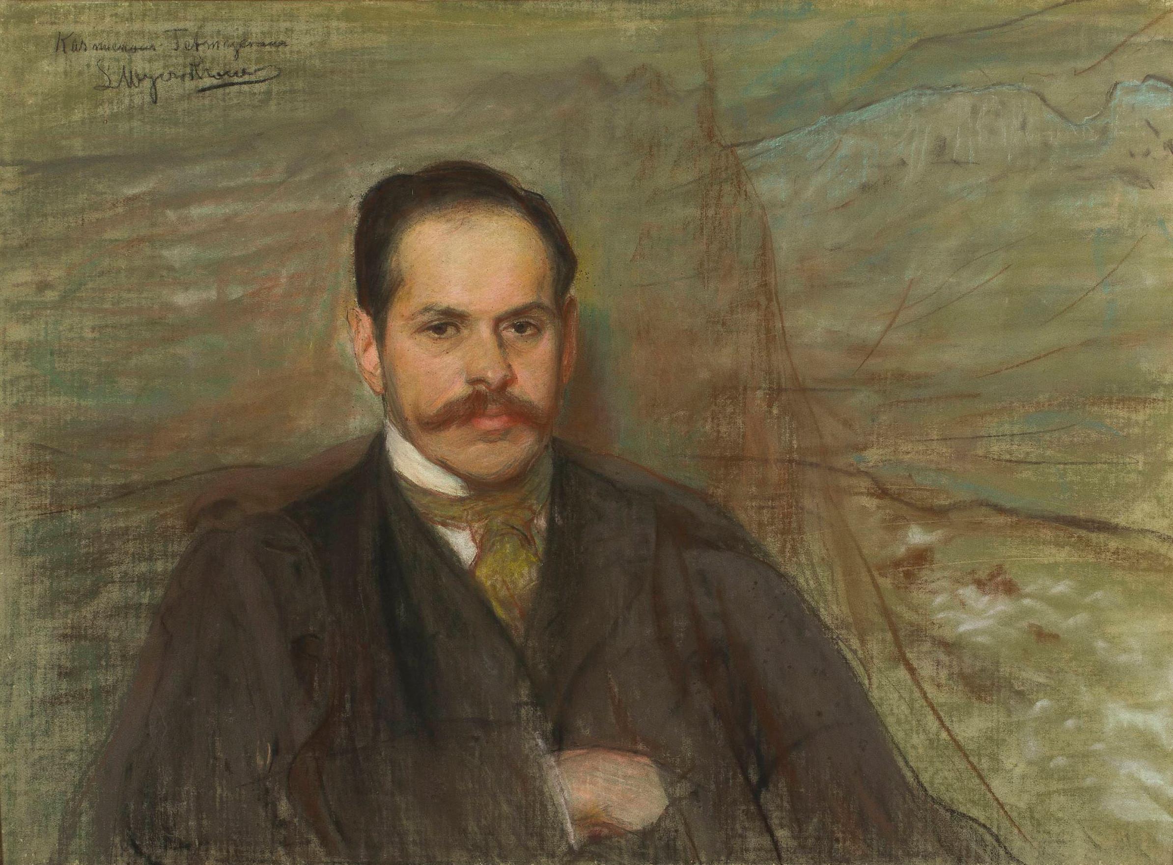 """Leon Wyczółkowski (1852-1936) """"Portret Kazimierza Przerwy-Tetmajera"""", przed 1901 rokiem, źródło: Muzeum Narodowe w Warszawie"""