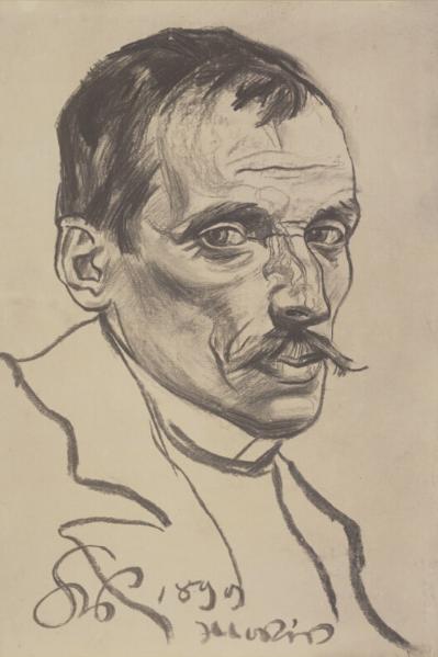 """Stanisław Wyspiański (1869-1907) """"Portret Włodzimierza Tetmajera"""", 1899 rok, źródło: Muzeum Archidiecezji Warszawskiej"""