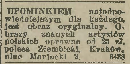 """Reklama dźwignią handlu, źródło: """"Ilustrowany Kuryer Codzienny"""" 1925, nr 31 (17-XI)"""