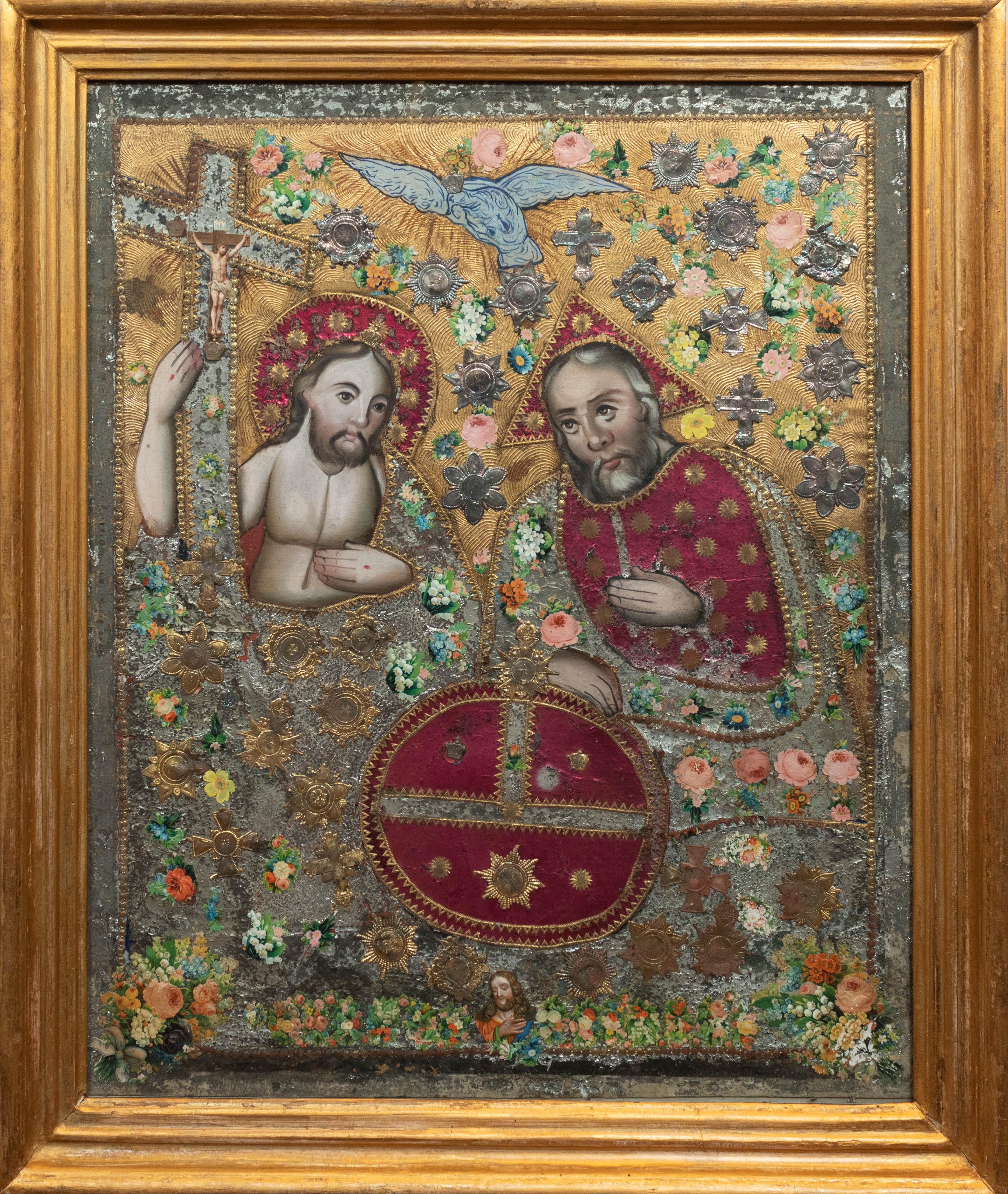 Trójca Święta, koniec XIX wieku, zdobienia bamberskie, źródło: archiwum autora
