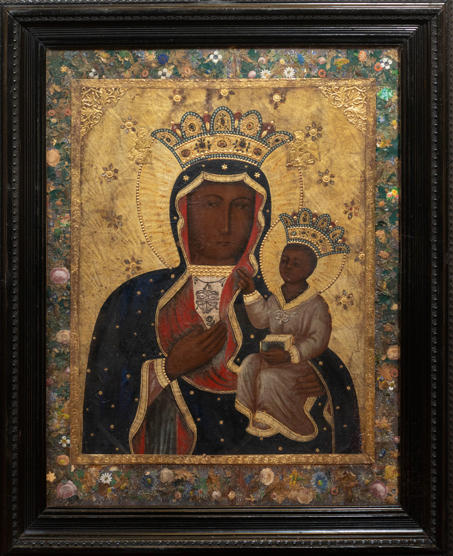 Matka Boska Częstochowska, II połowa XIX wieku, zdobienia bamberskie (lub inspirowane bamberskimi), źródło: archiwum autora