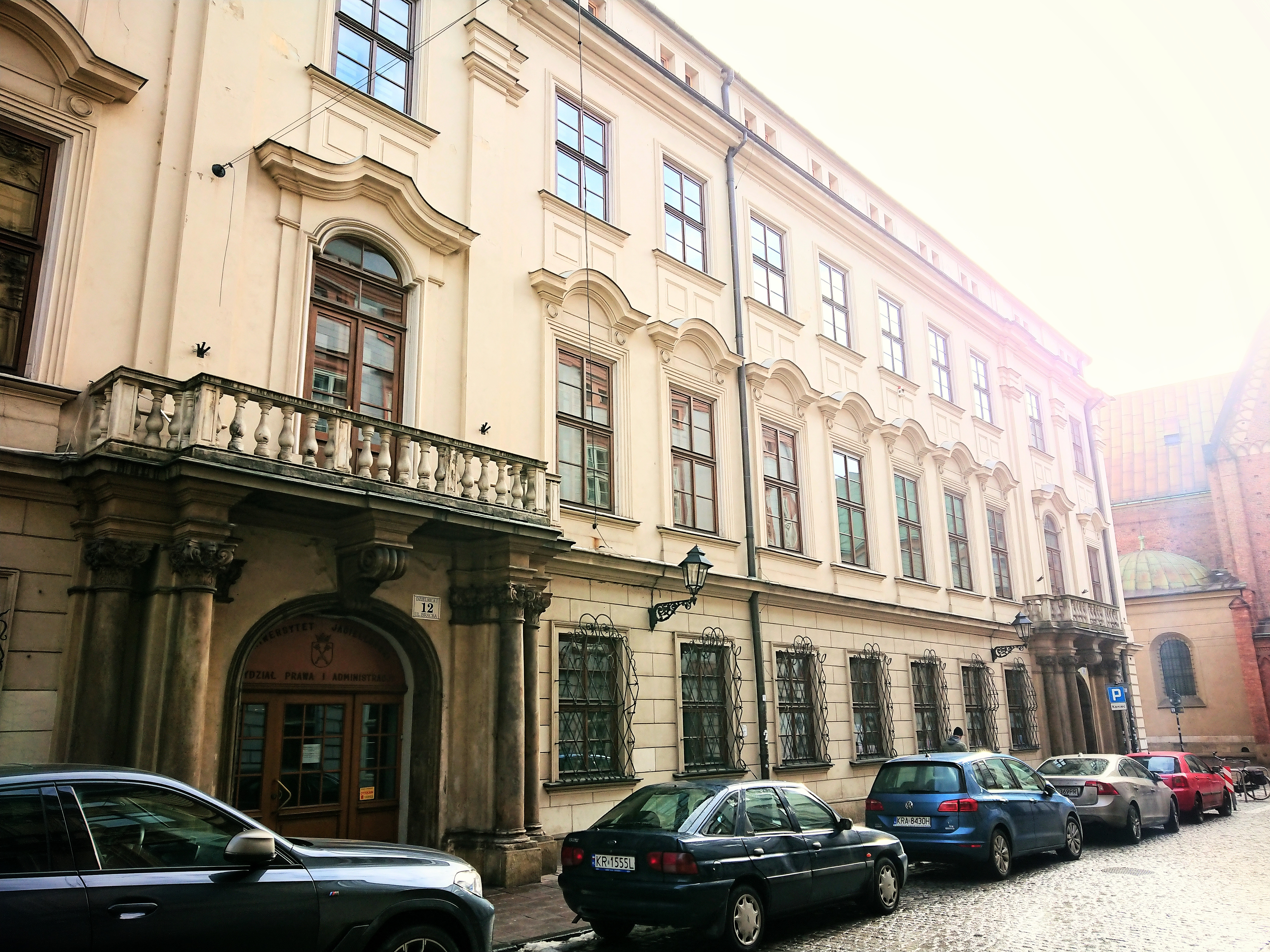 Pałac Larischa od strony Brackiej, źródło: archiwum autorki
