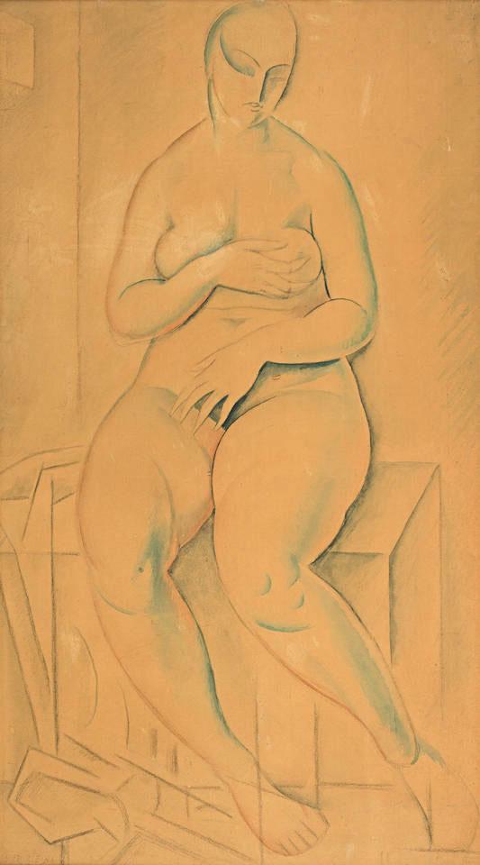 "Henryk Berlewi (1894-1967) ""Akt"" ok. 1920 roku, źródło: Bonhams"