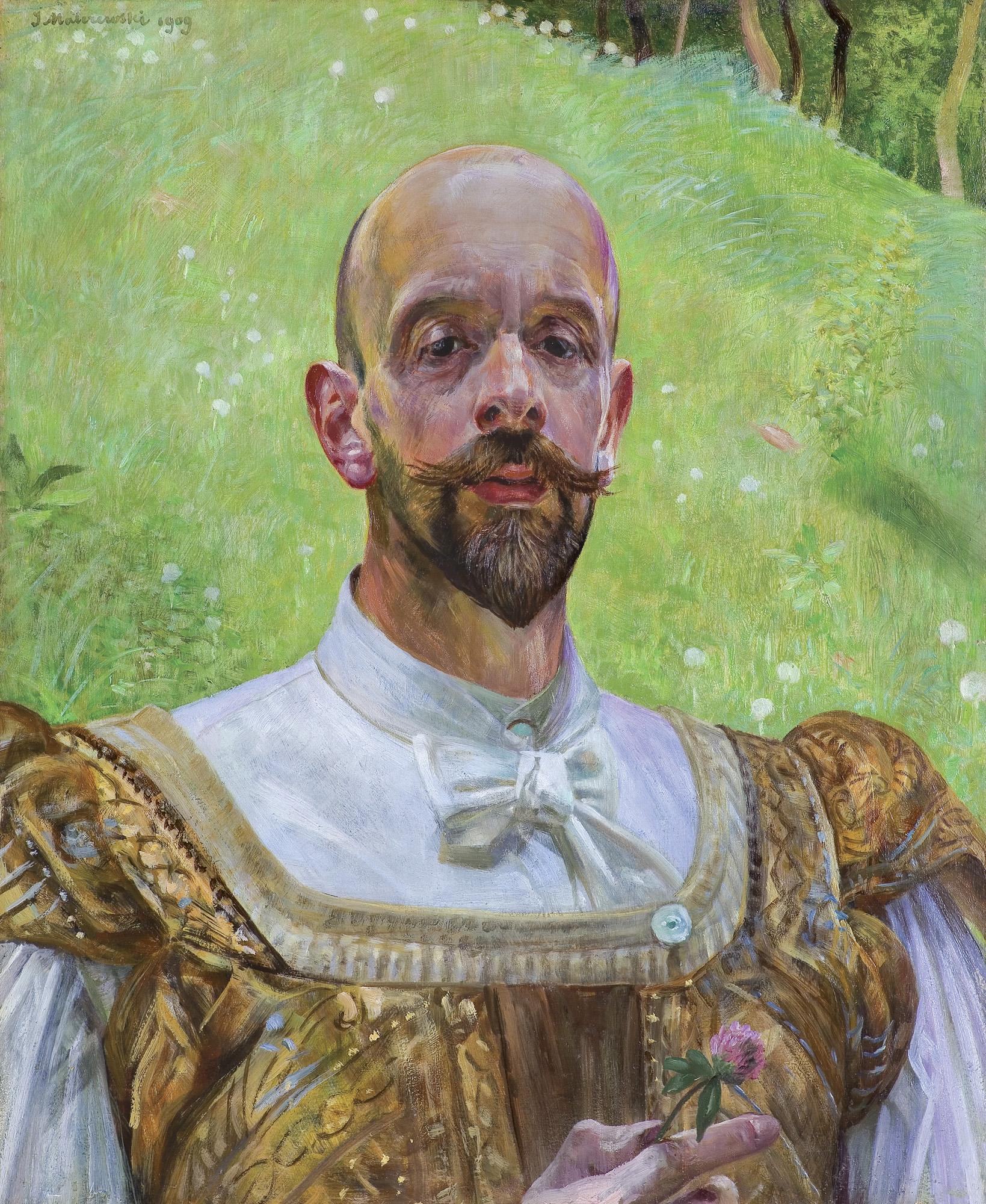 """""""Autoportret"""" Jacka Malczewskiego z 1910 roku ze zbiorów prywatnych Zygmunta Ziembickiego, źródło: Agra-Art"""