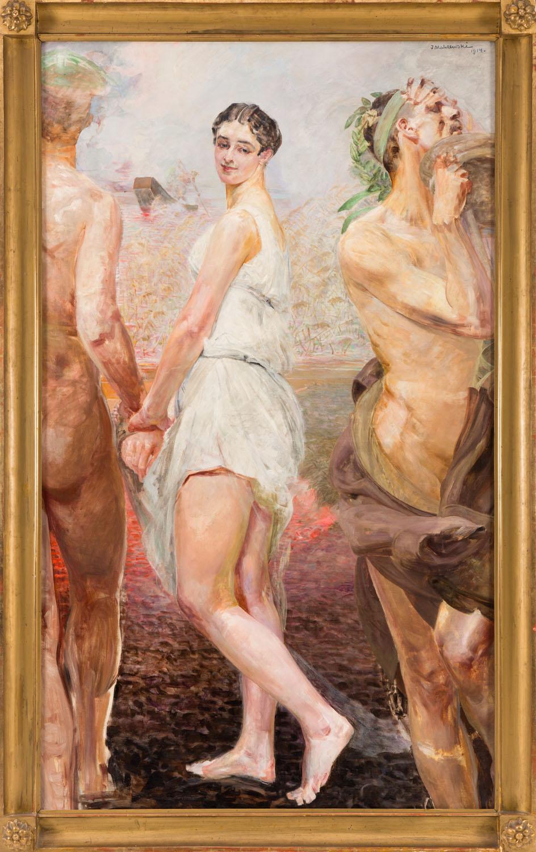 """W kolekcji Ziembickiego wśród prac Jacka Malczewskiego znalazł się także """"Orfeusz i Eurydyka"""" z 1914 roku, źródło: Desa Unicum"""