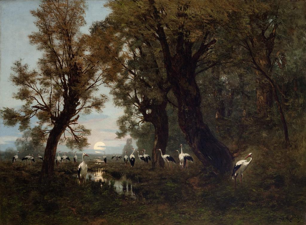 """Władysław Malecki (1836-1900) """"Sejm Bociani"""", 1879 rok, źródło: Muzeum Narodowe w Krakowie"""