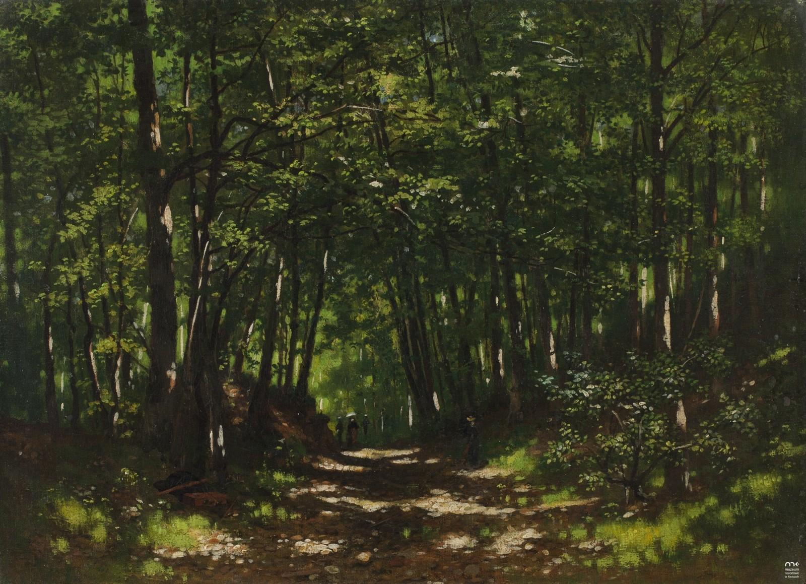 """Władysław Malecki (1836-1900) """"Wnętrze lasu"""", około 1880 roko, źródło: Muzeum Narodowe w Kielcach"""