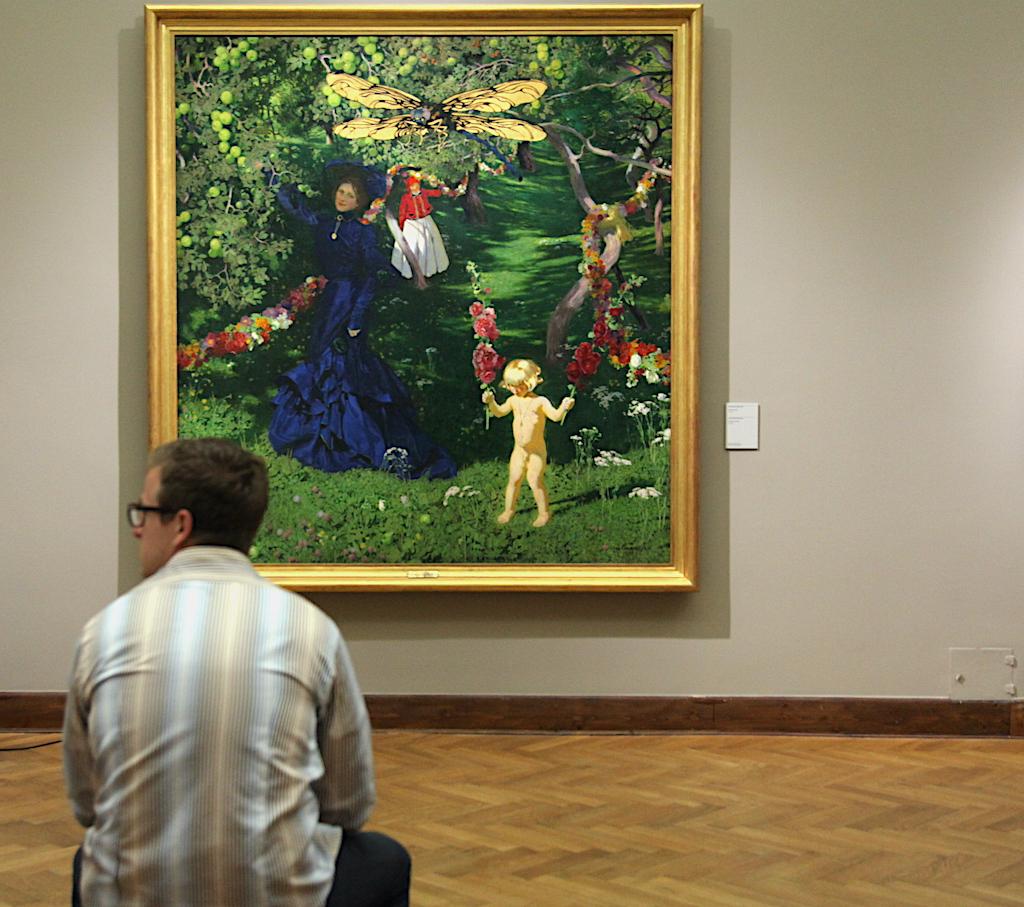 """""""Dziwny ogród"""" na ekspozycji stałej w Muzeum Narodowym w Warszawie: źródło: archiwum autora"""