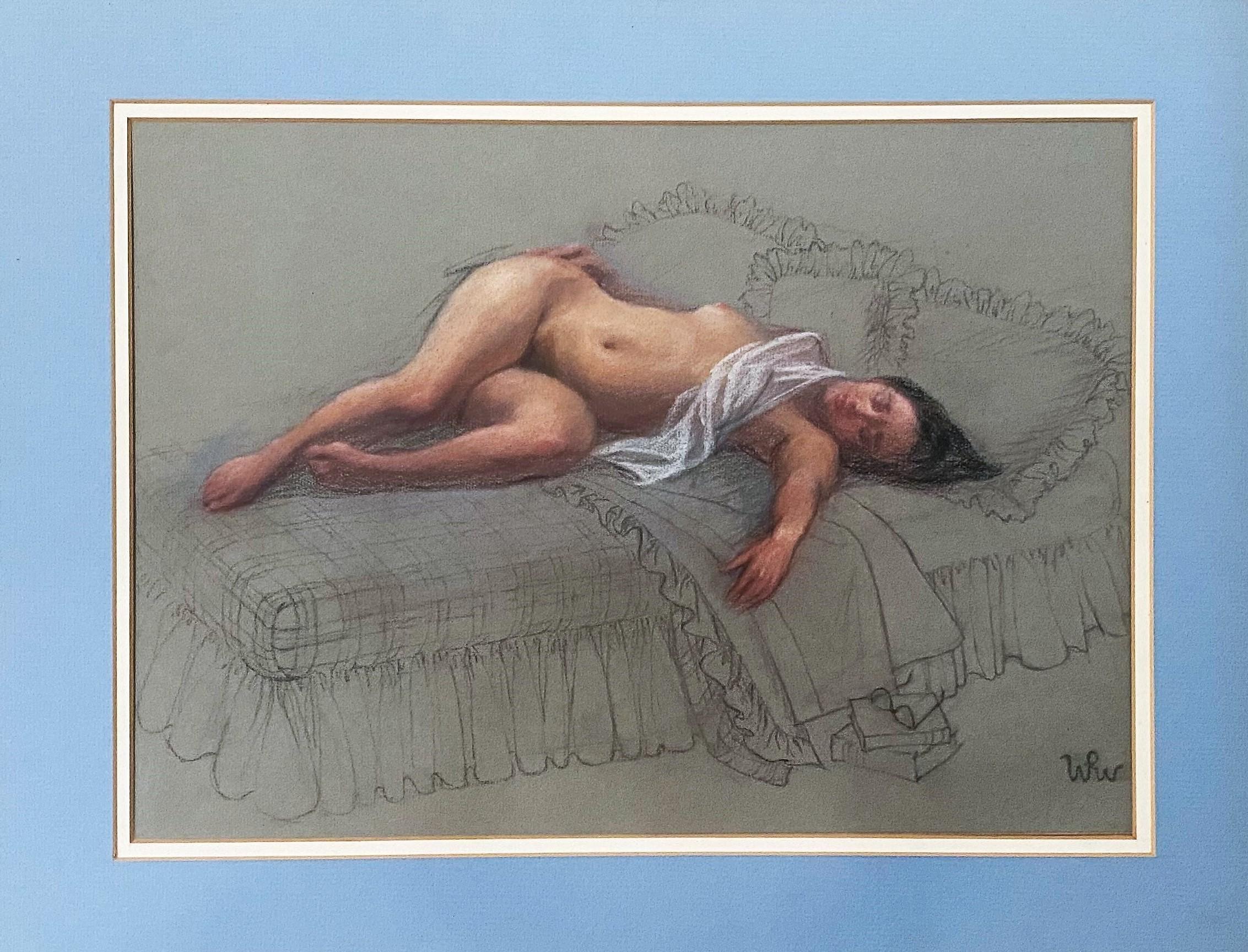 """Wojciech Weiss (1875-1950) """"Akt leżący"""", źródło: Coral Gables Auction"""