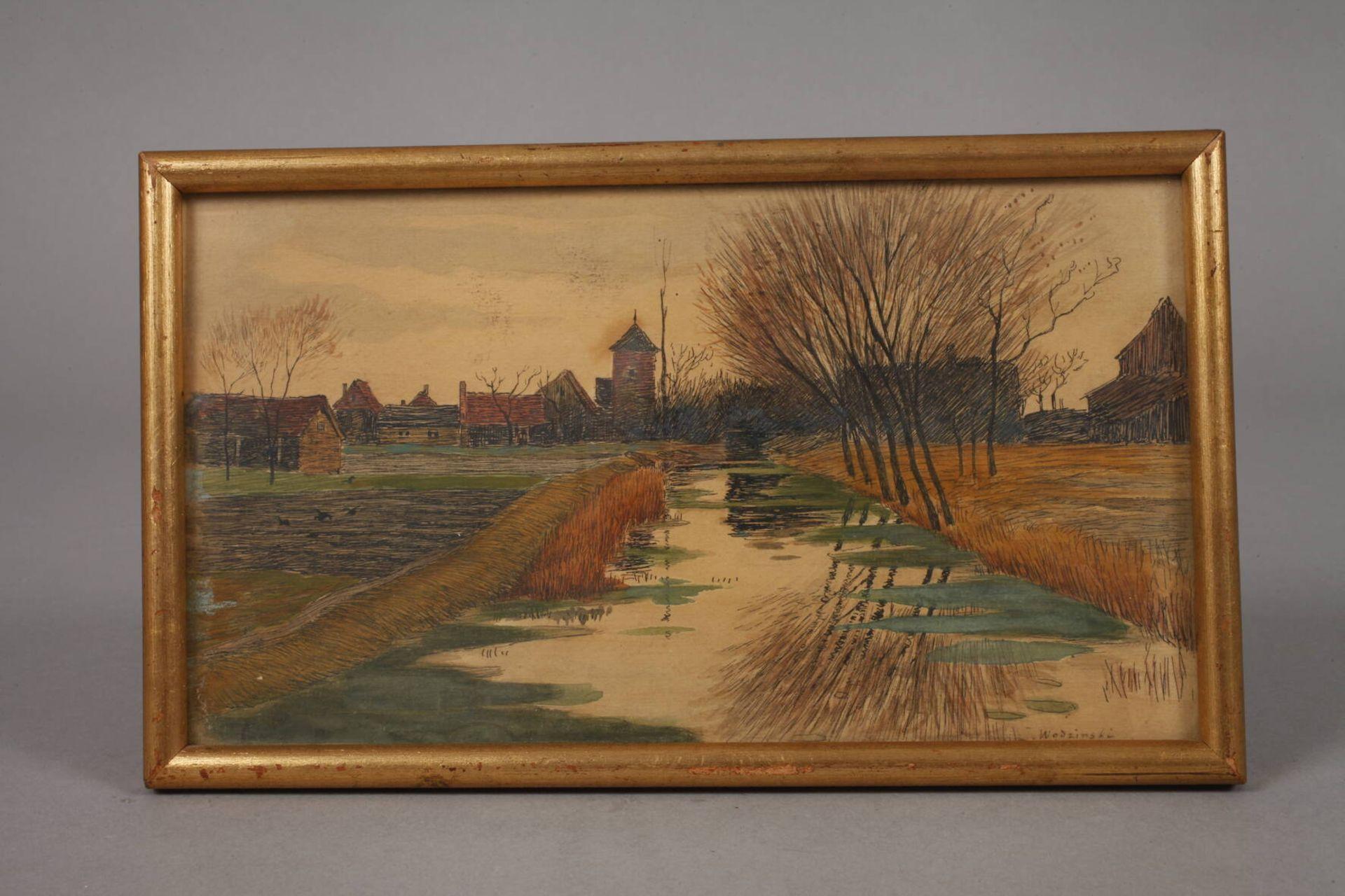 """Józef Wodziński (1859-1918) """"Pejzaż jesienny"""", źródło: Auktionshaus Mehlis"""