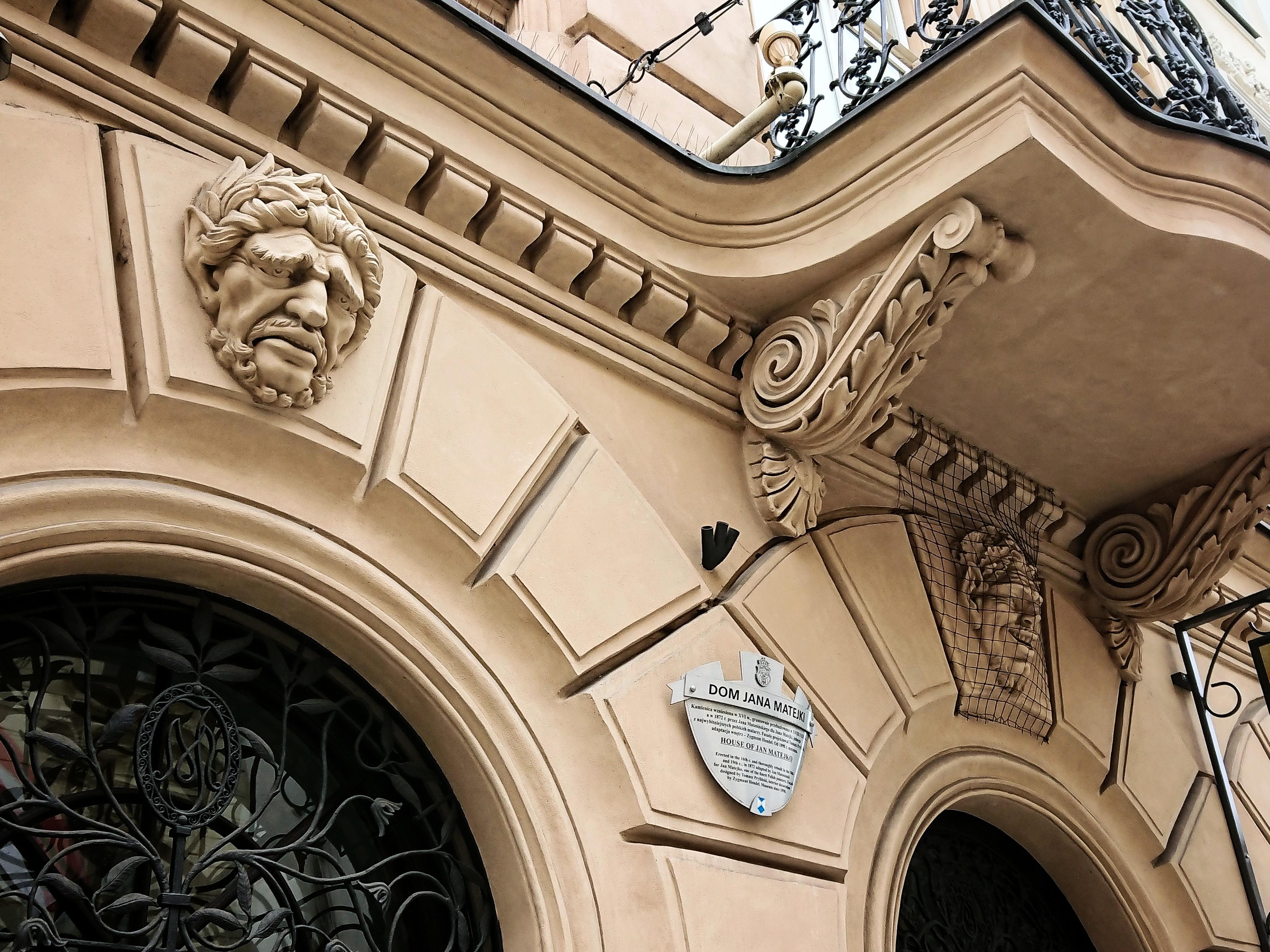 Detal na parterze do Domu Jana Matejki, źródło: archiwum autorki