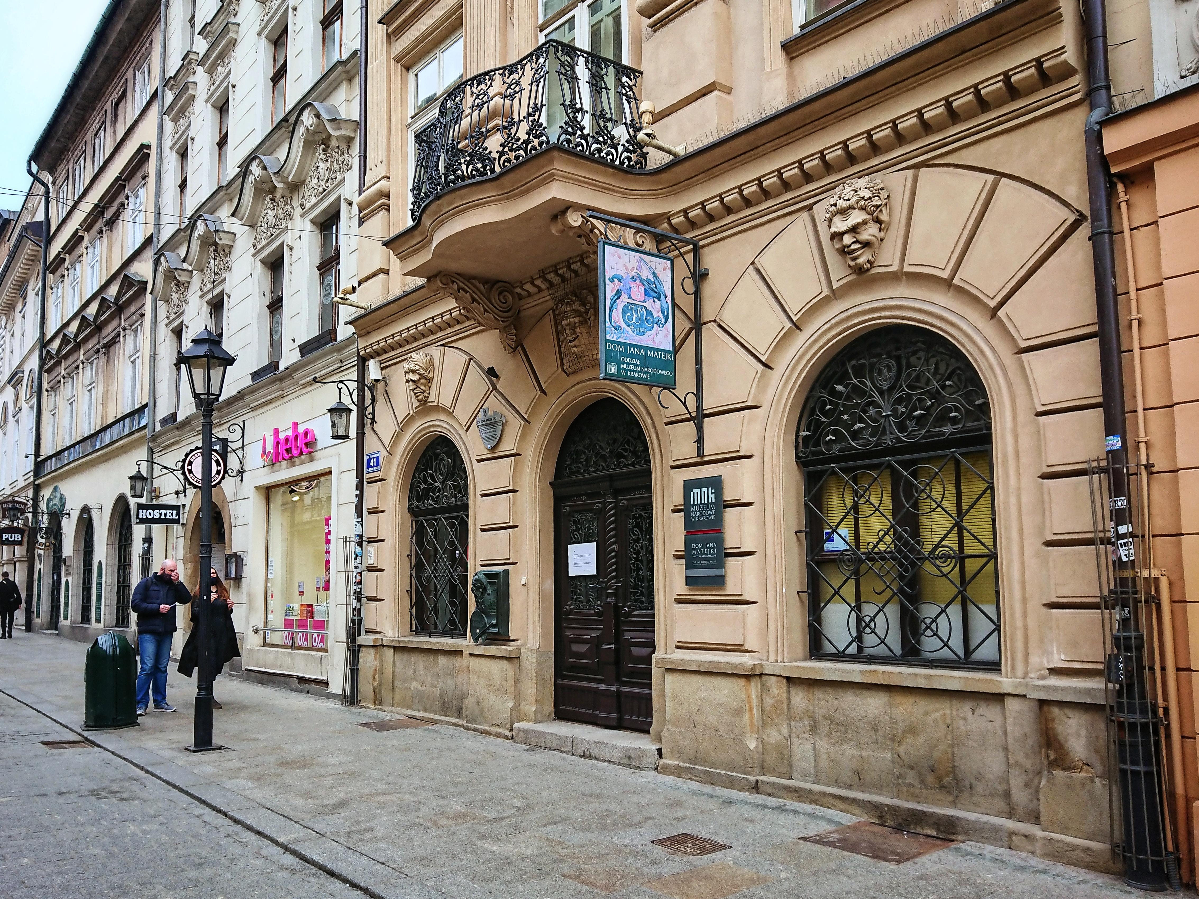 Wejście do Domu Jana Matejki przy ulicy Floriańskiej, źródło: archiwum autorki