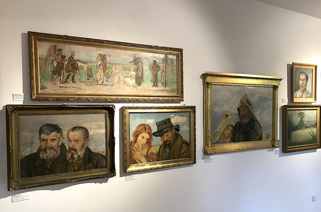 Fragment ekspozycji prac Hofmana w Domu Hauptmannów, źródło: archiwum autora
