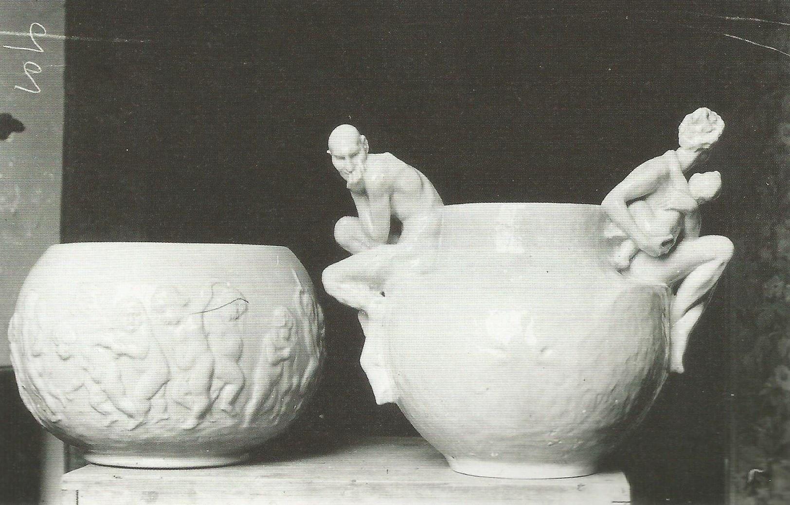 Wazy projektu Konstantego Laszczki, lata 1903-1904, fotografia archiwalna