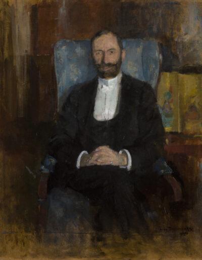 """Olga Boznańska (1865-1940) """"Portret Feliksa Jasieńskiego"""", 1907 rok, źródło: Muzeum Narodowe w Krakowie"""