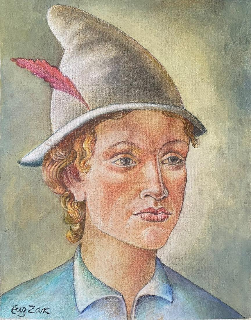 """Eugeniusz Zak (1884-1926) """"Portret młodzieńca"""", źródło: Louiza Auktion & Associates"""