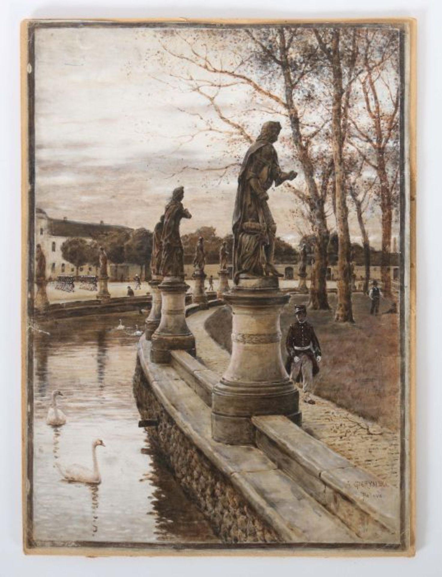 "Aleksander Gierymski (1850-1901) ""Prato della Valle"", źródło: Yves Siebers Auktionen"