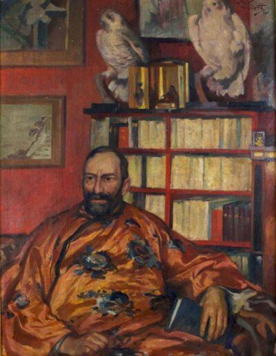 """Teodor Grott (1884-1972) """"Manggha w kimonie"""", 1920 rok, źródło: Muzeum Narodowe w Krakowie"""