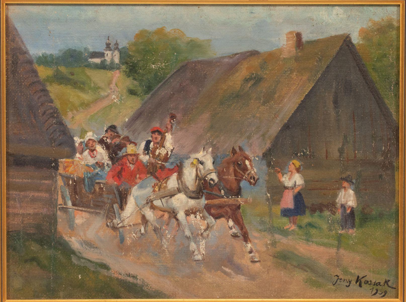 """Jerzy Kossak (1886-1955) """"Wesele krakowskie"""", źródło: DuMouchelles"""