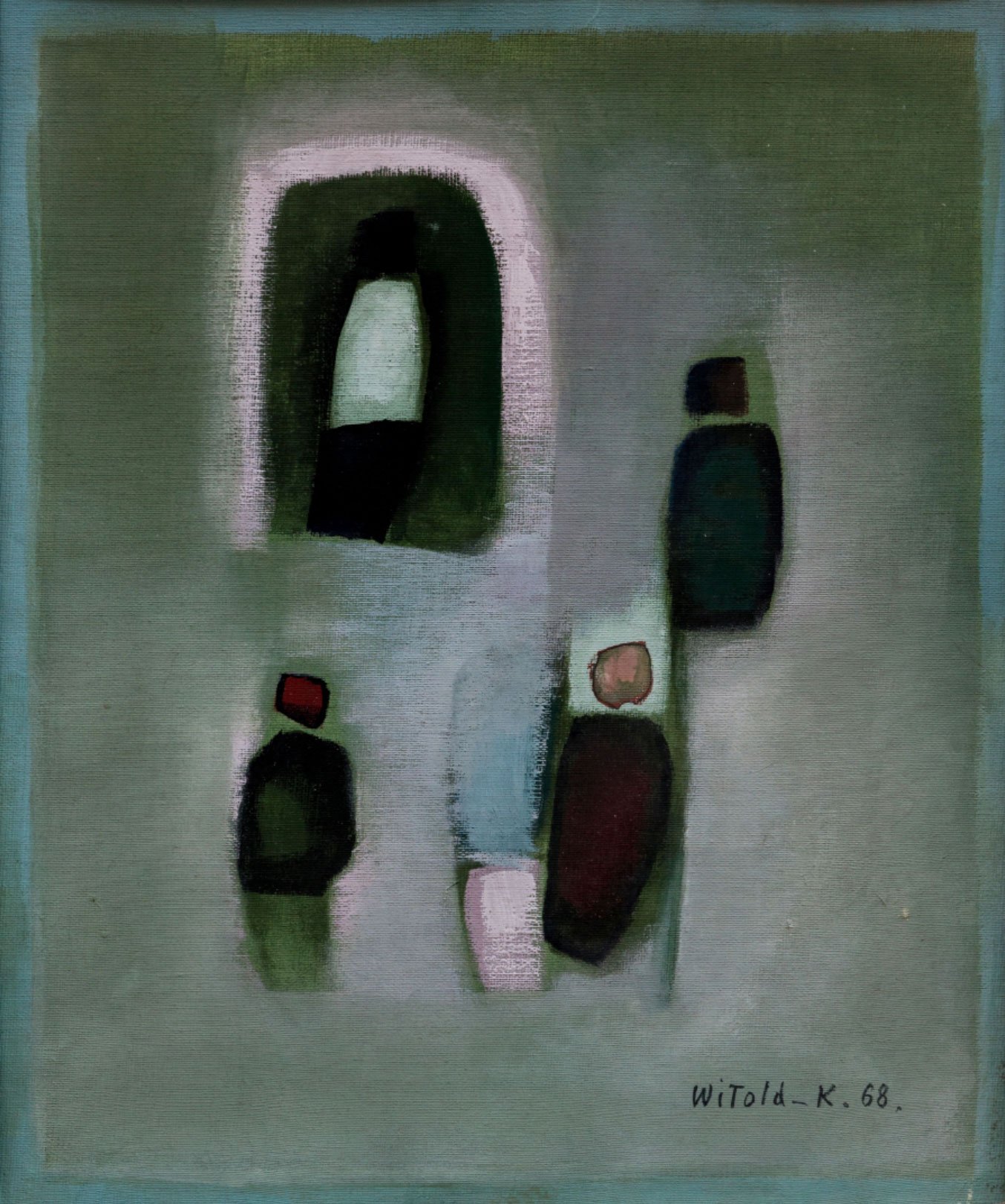 """Wit Leszek Kaczanowski (Witold-K) (ur. 1932)  """"Kompozycja z postaciami"""", źródło: Fine Art Auctions Paris"""